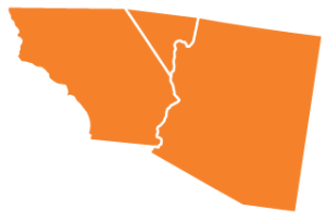 Southern California, Arizona and lower Nevada